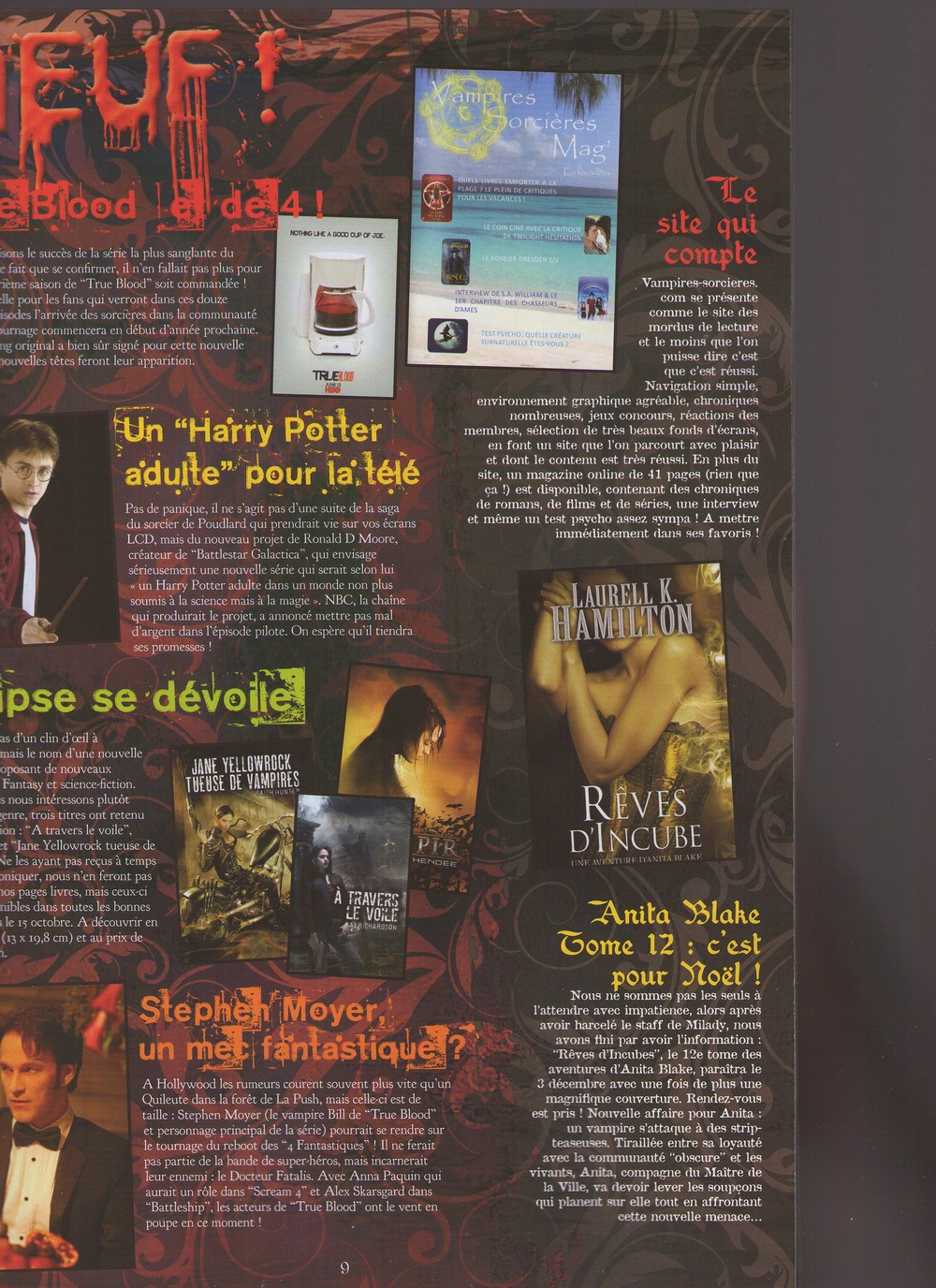 Critique de V&S dans le Dark Mag