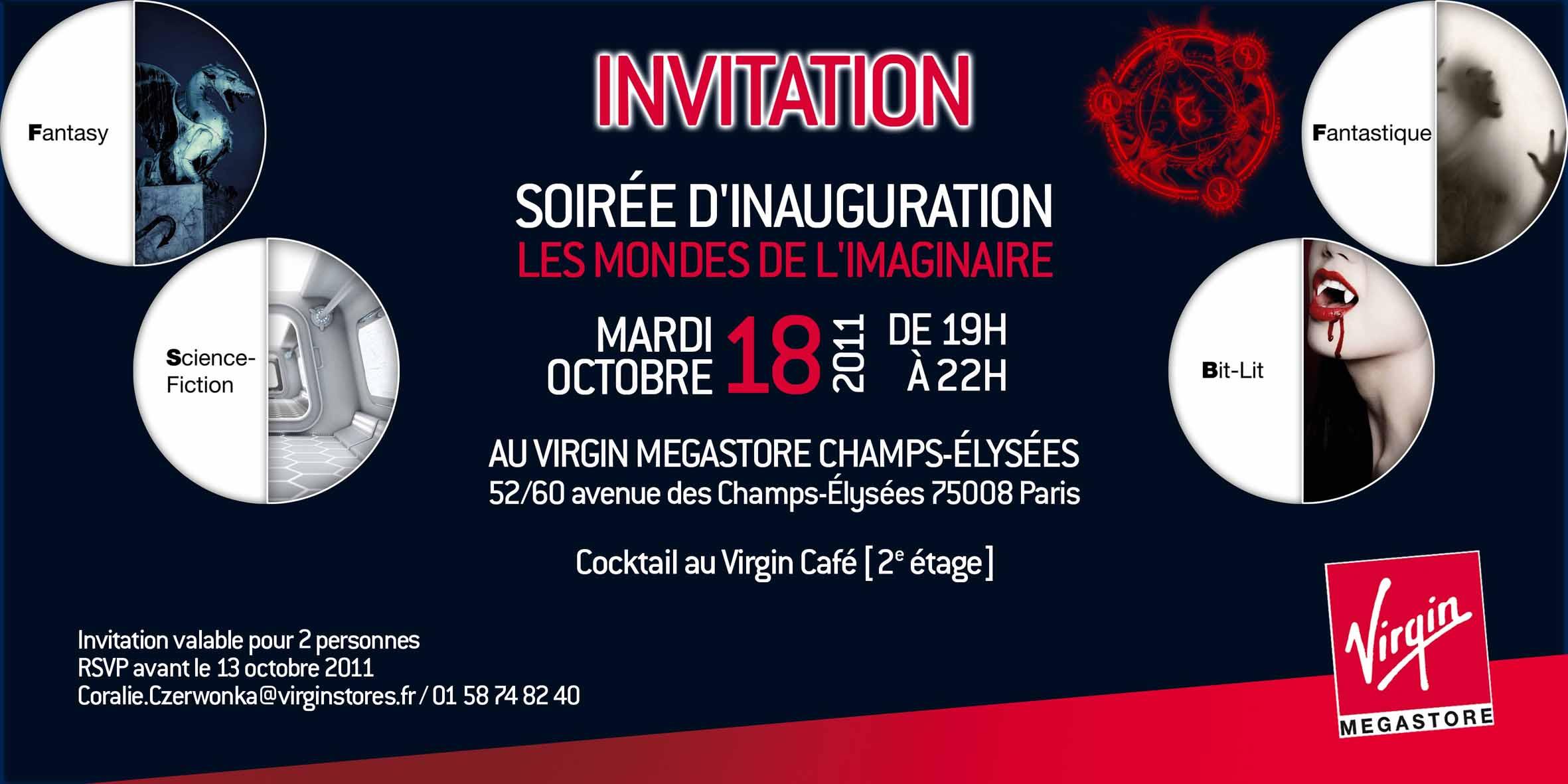 Invitation à l'inauguration du rayon Monde de l'imaginaire