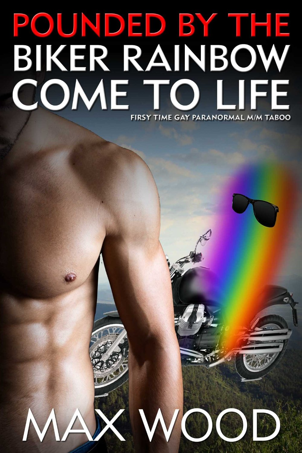 Pounded by the biker rainbow come to life